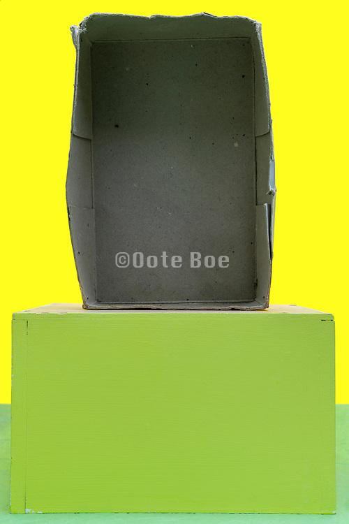 empty old carton box