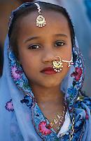 """Pakistan - """"Shiddis """", esclaves de l'empire des Indes. Jeune fille Shiddi, les noirs du Pakistan. // Pakistan. Young Shiddi girl, the black of Pakistan with African origine."""