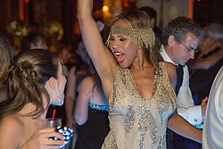 Singer and Actress Deborah Cox at a wedding reception
