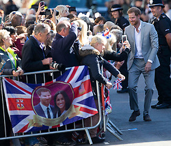 October 3, 2018 - Chichester, Sussex, United Kingdom - Royal Visit to Sussex. Prince Harry and Meghan Markle, the Duke and Duchess of Sussex on a walkabout in Chichester,Sussex  (Credit Image: © i-Images via ZUMA Press)