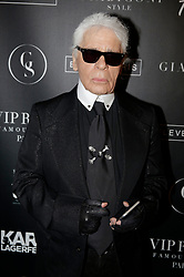 Karl Lagerfeld attending the Giabiconi Style Party held at the VIP Room night club in Paris, France on February 28, 2015. Photo by Jerome Domine/ABACAPRESS.COM