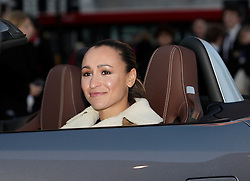 © Licensed to London News Pictures. 01/11/2012. London, U.K..Olympic gold medallist Jessica Ennis posed with the all new Jaguar F-TYPE today (01/11/2012) Outside st. Pauls Cathedral London. she will be driving the F-TYPE at the Lord Mayor's show on Saturday 10th November. .Photo credit : Rich Bowen/LNP
