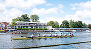 Henley-On-Thames, Berkshire, UK.,Sunday, 15.08.21,  Temple Challenge Cup. A.S.R. Nereus on their way to winning  thfinal against Imperial College, London, 2021 Henley Royal Regatta, Henley Reach, River Thames, Thames Valley,  [Mandatory Credit © Peter Spurrier/Intersport Images], Finals' Day,