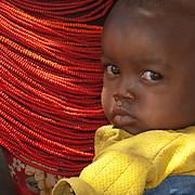 A Maasai baby. Amboseli National Park, Africa