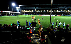Bristol Rugby run out for the Anglo-Welsh Cup fixture with Worcester Warriors - Mandatory by-line: Robbie Stephenson/JMP - 04/11/2016 - RUGBY - Sixways Stadium - Worcester, England - Worcester Warriors v Bristol Rugby - Anglo Welsh Cup