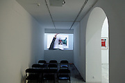 projection gallery inside the museum of Centro Andaluciuz de Arte Contemporaneo Sevilla
