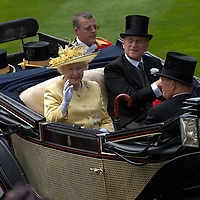 Her Majesty Queen Elizabeth II and the Duke of Edinburgh  at Ascot 20th June 2007 Second day at Royal Ascot with celebrities and members of the Royal Family