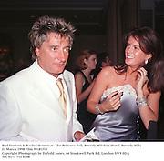 Rod Stewart & Rachel Hunter at  The Princess Ball, Beverly Wilshire Hotel. Beverly Hills. 21 March 1998 Film 98181f32<br />Copyright Photograph by Dafydd Jones. 66 Stockwell Park Rd. London SW9 0DA<br />Tel. 0171 733 0108