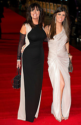 Allo 'Allo star Vicki Michelle and her daughter Louise arrives for the Run For Your Wife - UK film premiere Odeon -Leicester Sq- London Brit comedy about a happily married man - with two wives, Tuesday  February 5, 2013. Photo: Andrew Parsons / i-Images