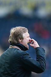Steven Pressley, Falkirk manager..Falkirk 1 v 0 Queen of the South, 15/10/2011..Pic © Michael Schofield.