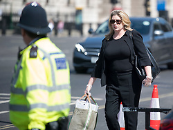 © Licensed to London News Pictures. 02/06/2020. London, UK. Conservative MP PENNY MORDAUNT  Is seen arriving at The Houses of Parliament in London ahead of a 90-minute debate on the new voting system and a series of votes this afternoon. Government has introduced further measures to slowly ease lockdown, which was introduced to fight the spread of the COVID-19 strain of coronavirus. Photo credit: Ben Cawthra/LNP