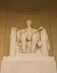 Washington DC; USA: The Lincoln Memorial, Statue of President Abraham Lincoln, on the National Mall.Photo copyright Lee Foster Photo # 4-washdc82635