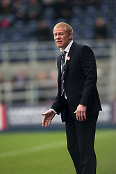 Falkirk's manager Gary Holt.<br /> Falkirk 1 v 2 Dumbarton, Scottish Championship game played today at the Falkirk Stadium.<br /> ©Michael Schofield.