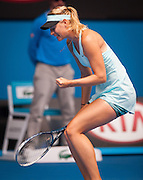 Maria Sharapova (RUS) has fallen to D. Cibulkova (SVK). Cibulkova has advanced to her first Australian Open quarterfinal in a surprise win over third seed Maria Sharapova 3-6 6-4 6-1 at Rod Laver Arena on Monday.<br /> <br /> In falling to the Slovakian 20th seed, Sharapova became the second high-profile player to exit the women's draw in less than 24 hours, after world No.1 Serena Williams was dumped out by Ana Ivanovic at the same venue yesterday.