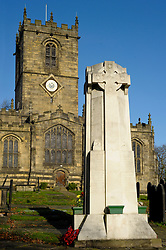 Ecclesfield War Memorial in St Marys Church Yard Ecclesfield commemorates the dead of the Great War of 1914-1918 and the Second world war of 1939-1945. It also bares the name of 1 Young Man from Ecclesfield who was killed in the Falklands War 1982..12 November 2009 Copyright Paul David Drabble