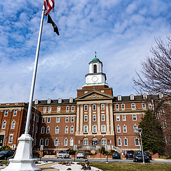 Coatesville, PA / USA - February 24, 2020: Building 1 at the US Department of Veterans Affairs Medical Center in Coatesville PA.