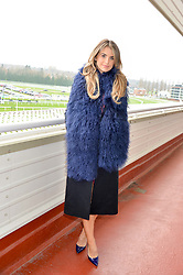 NEWBURY, ENGLAND 26TH NOVEMBER 2016: Vogue Williams at Hennessy Gold Cup meeting Newbury racecourse Newbury England. 26th November 2016. Photo by Dominic O'Neill