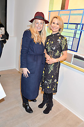 Left to right, ASTRID HARBORD and ROBERTA MOORE at a private view entitled Stop Making Sense featuring work by Georgiana Anstruther and Carol Corell held at Lacey Contemporary, 8 Clarendon Cross, London on 9th March 2016.