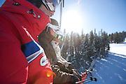 Skiing at Breckenridge, Colorado.