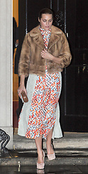 ©London News pictures. 21.02.2011. Yasmin Le Bon leaves an event at No 10 Downing Street hosted by Prime Minister's wife Samantha Cameron to celebrate the UK's fashion industry.  Picture Credit should read Carmen Valino/LNP