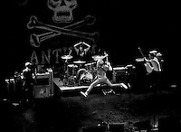 Brian Fallon of The Gaslight Anthem takes flight at Boston House of Blues 2011.