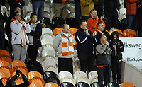 Blackpool fans applaud their team at the final whistle <br /> <br /> Photographer Kevin Barnes/CameraSport<br /> <br /> The EFL Sky Bet Championship - Blackpool v Peterborough United - Saturday 2nd November 2019 - Bloomfield Road - Blackpool<br /> <br /> World Copyright © 2019 CameraSport. All rights reserved. 43 Linden Ave. Countesthorpe. Leicester. England. LE8 5PG - Tel: +44 (0) 116 277 4147 - admin@camerasport.com - www.camerasport.com