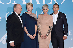 Prince Albert II of Monaco, Princess Charlene of Monaco, Orlando Bloom and Katy Perry attending the Gala for the Global Ocean hosted by H.S.H. Prince Albert II of Monaco at Opera of Monte-Carlo in Monte-Carlo, Monaco on September 26, 2018. Photo by Aurore Marechal/ABACAPRESS.COM