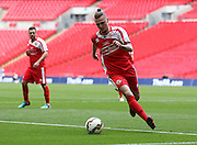 North Shields John Grey during the FA Vase Final between Glossop North End and North Shields at Wembley Stadium, London, England on 9 May 2015. Photo by Phil Duncan.