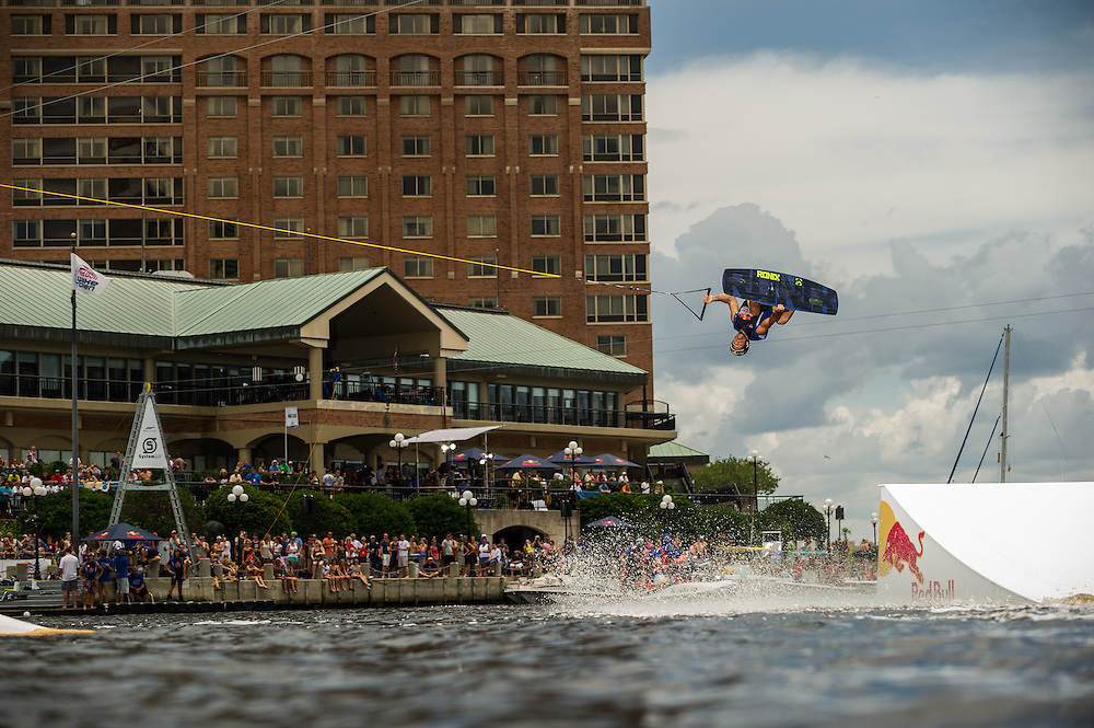 Dean Smith Competes at Red Bull Wake Open Park in Tampa Bay, Florida on July 14, 2012