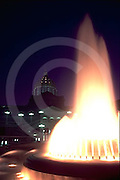Pennsylvania Capitol Fountain, Evening Color Lights, Harrisburg, PA