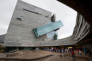 Children line up outside of the Perot Museum of Nature and Science in Dallas on Thursday, April 4, 2013. (Cooper Neill/The Dallas Morning News)