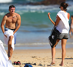 Spanish tennis player Garbine Muguruza visits Bondi Beach - 7 Jan 2018