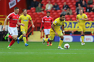 AFC Wimbledon striker Andy Barcham (17) in action during the EFL Sky Bet League 1 match between Charlton Athletic and AFC Wimbledon at The Valley, London, England on 17 September 2016. Photo by Stuart Butcher.