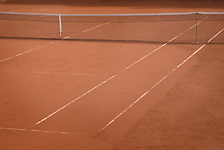 Tennis court with net, Bavaria, Germany