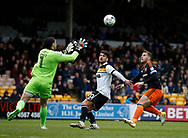Billy Sharp of Sheffield Utd pressures Deniz Dogan Mehmet of Port Vale during the English League One match at Vale Park Stadium, Port Vale. Picture date: April 14th 2017. Pic credit should read: Simon Bellis/Sportimage