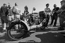 The 1923 Neracar after crossing the finish line at the end of stage 16 (142 miles) of the Motorcycle Cannonball Cross-Country Endurance Run, which on this day ran from Yakima to Tacoma, WA, USA. Sunday, September 21, 2014.  Photography ©2014 Michael Lichter.