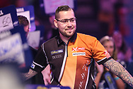 Benito van de Pas during the walk-on during the World Darts Championships 2018 at Alexandra Palace, London, United Kingdom on 27 December 2018.