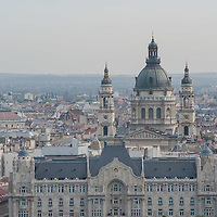 Saint Stephen's Basilique and Four Seasons Hotel (front) is seen from the hilltop balcony of the President of Hungary in Budapest, Hungary on September 29, 2011. ATTILA VOLGYI