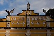 Manhumirim_MG, Brasil...Manhumirim e uma cidade pequena, localizada na Zona da Mata de Minas Gerais. Na foto o Colegio Santa Terezinha, construido pelo Padre Julio Maria, importante personagem na vida da cidade...Manhumirim is a town located in Zona da Mata (south east) in Minas Gerais. In this photo Santa Terezinha school built by Julio Maria priest...Foto: LEO DRUMOND / NITRO