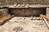Pictures & Images of early Bronze Age Royal tomb (2500-200BC). Alaca Hoyuk (Alacahoyuk) Hittite archaeological site  Alaca, Çorum Province, Turkey, Also known as Alacahüyük, Aladja-Hoyuk, Euyuk, or Evuk .<br /> <br /> If you prefer to buy from our ALAMY PHOTO LIBRARY  Collection visit : https://www.alamy.com/portfolio/paul-williams-funkystock/alaca-hoyuk-hittite-site.html<br /> <br /> Visit our TURKEY PHOTO COLLECTIONS for more photos to download or buy as wall art prints https://funkystock.photoshelter.com/gallery-collection/3f-Pictures-of-Turkey-Turkey-Photos-Images-Fotos/C0000U.hJWkZxAbg