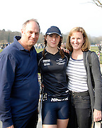 Henley, GREAT BRITAIN, 2011 Henley Boat Races, Temple Island, Henley Reach, River Thames, England.Sir Steve REDGRAVE [left], with daughter, Natalie REDGRAVE [centre] and Lady Ann REDGRAVE [right].   Sunday  27/03/2011.  [Mandatory Credit, Karon Phillips /Intersport-images]