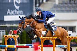 DEUSSER Daniel (GER), Kiana van het Herdershof<br /> STAWAG-Preis<br /> CSI3* - Springprüfung mit Stechen 1.45m<br /> Grosse Tour<br /> Aachen - Jumping International 2020<br /> 05. September 2020<br /> © www.sportfotos-lafrentz.de/Stefan Lafrentz