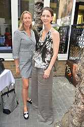 Left to right, TIGGY KENNEDY and MARIA GRACHVOGEL at a ladies lunch at Toto's, Walton Street, London on 12th June 2014.