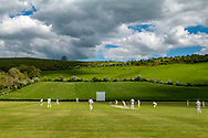 Wooler, Northumberland, England, UK. 5th June 2021. Wooler CC play cricket at their scenic pitch in rural Northumberland on a Saturday afternoon.
