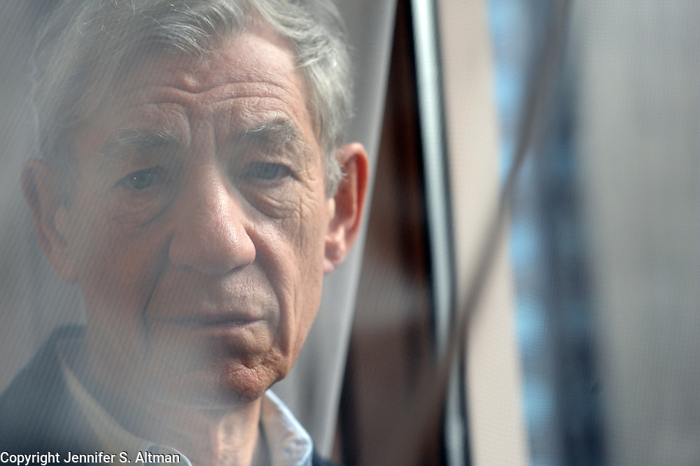 MANHATTAN, NEW YORK, NOVEMBER 4, 2009 Actor Ian McKellan is seen at the London Hotel in Manhattan, NY. McKellan stars in the new AMC mini-series The Prisoner, a remake of the 1960's sci-fi classic. 11/4/2009 Photo by Jennifer S. Altman/For The Times