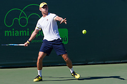 March 23, 2018 - Key Biscayne, FL, U.S. - KEY BISCAYNE, FL - MARCH 23: Matthew Ebden (AUS) in action on Day 5 of the Miami Open at Crandon Park Tennis Center on March 23, 2018, in Key Biscayne, FL. (Photo by Aaron Gilbert/Icon Sportswire) (Credit Image: © Aaron Gilbert/Icon SMI via ZUMA Press)