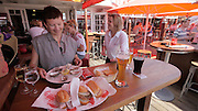 Sylt, Germany. List. Gosch seafood restaurant. Oysters and fish sandwiches.