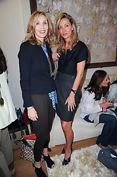 Left to right, ALLEGRA HICKS and MARIE MOATTI at a party hosted by Maria Hatzistefanis to celebrate the publication of Santa Montefiore's new book 'The Affair' held at 35 Walpole Road, London on 27th April 2010.