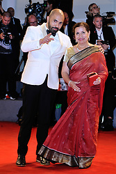 Ritesh Batra and Mira Nair attending the Our Souls at Night premiere during the 74th Venice International Film Festival (Mostra di Venezia) at the Lido, Venice, Italy on September 01, 2017. Photo by Aurore Marechal/ABACAPRESS.COM