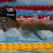 Kathleen Hersey, USA, in action in the Women's 200m Butterfly Final at the Aquatic Centre at Olympic Park, Stratford during the London 2012 Olympic games. London, UK. 1st August 2012. Photo Tim Clayton